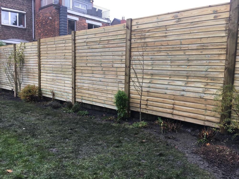 Palissade de jardin en beton, pvc ou bambou à Liège